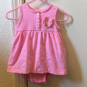 Carter's dress pink and white stripe.